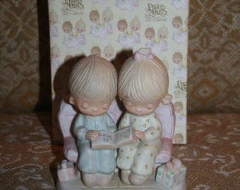 "Save 15% Now!  Vintage 1978 ENESCO Jonathan & David ""Unto Us a Child is Born"" PRECIOUS MOMENTS!  Comes in Original Box!  Great Condition!"