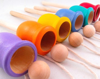 Cup and Ball Dexterity Game - Dexterity Cup and Ball Game - Cup and Ball Game - Montessori Cup and Ball Game - MDH Toys Cup and Ball Game