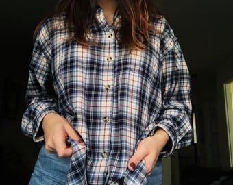 Eddie Bauer Flannel Button Up Shirt