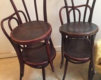 Vintage Fischel Bentwood Chairs Pair
