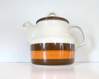 Swedish teapot Rörstrand Sweden Teapot Annika Scandinavian Retro 1970s