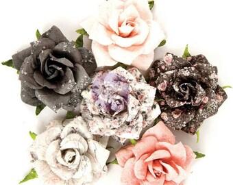 Prima - Rose Quartz Collection - Flower Embellishments - Persian Marblelite