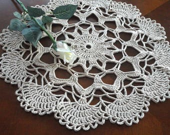 Crochet Placemat Large Placemat Crochet Doily Round Placemat Home Decor Tablecloth Crochet Tablecloth Women Gift