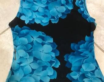 Vintage 90's Sheer Floral Cropped Tank Top M crop top festival