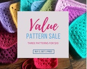 3 crochet patterns for 10USD deal/pattern sale/crochet blanket pattern/blanket pattern/popular crochet/Added value sale - speedy response
