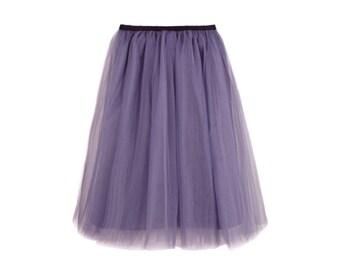 Tulle skirt amethyst color | engagement | party skirt | princess | wedding | birthday | gift | elegant | grace | dream skirt