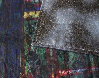 Dark Navy Tarot cloth, altar cloth, Runes cloth, tarot mat, tarot gift, rune cloth, spread cloth, oracle cloth, table cloth, wicca gift