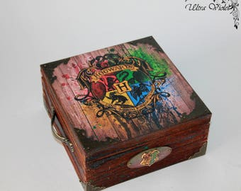 Exclusive tea box, tea,  tea bag,  box, wood, Harry Potter Deathly Hallows