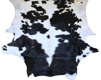 Glacier Wear Cow Hide Leather Hair-On Rug #015