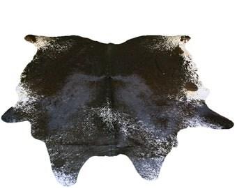 Glacier Wear Longhorn Cow Hide Leather Hair-On Rug #063