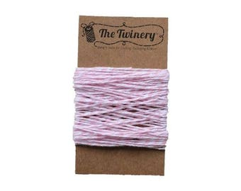Light Pink and White Bakers Twine - Blossom Twist - 15 Yard Bundle