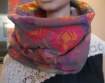 "snood - handmade - fleece and fabric - ""olivia"""