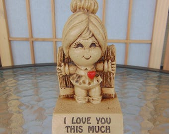 I Love You This Much Paula Figurine 1972 Made in USA