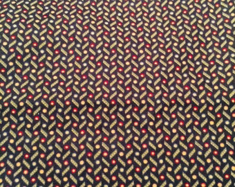 Quilting cotton Kansas Winter by Kansas Troubles Quilters for Moda 2 1/2 Yards Black, red, yellow dots Fabric