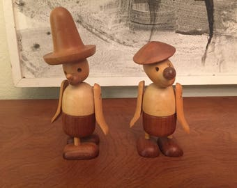 Pair of Mid Century Modern Made in Japan Articulated Cute Figures