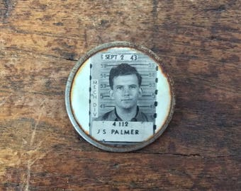 Vintage 1940s Employee Mechanical Division Identification ID Badge