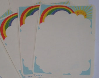 8 Rainbow Memo Sheets for Journaling & Scrapbooking
