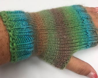 Ladies Gloves - Fingerless Gloves - Fingerless Mittens - Knit Mittens - Knitted Gloves - Hand Warmers, Knit Fingerless Gloves -