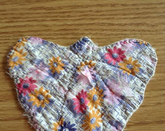 Butterfly Quilt Piece, Vintage