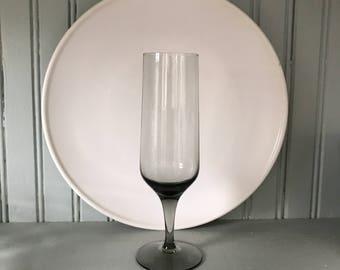 Vintage Orrefors Rhapsody Smoke Crystal Champagne Flute * Sven Palmqvist Mid Century Bar * Danish Modern
