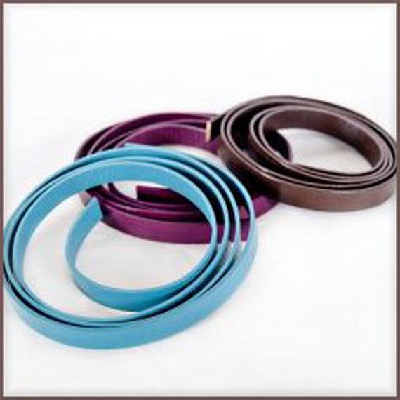 """Leather strap 10 mm wide x 10"""" long top grain cow leather is completely dyed on all surfaces perfect for bracelets and more"""