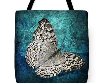 Butterfly Tote Bag,Butterfly Beach Bag,Butterfly Shoulder Bag,Butterfly Carryall,Butterfly Handbag,Unique,Tote Bag,Butterfly