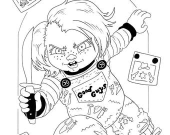 Child's Play, Chucky, Original Ink Drawing