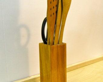 Olive ash kitchen utensil holder