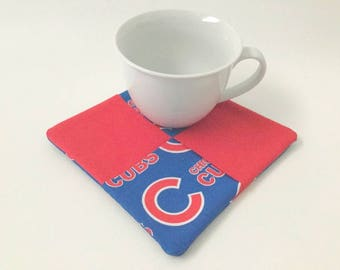 Cubs Hot Pad, Cubs Fabric, Chicago Cubs, Cubs Mug Rug, Cubs Potholder, Chicago Cubs Fan, Tailgating, BBQ Tools, Chicago Cubbies
