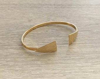 Thin Gold GEO Cuff, Gold Cuff, Thin Cuff, Gold Bracelet
