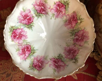 Shabby Chic Cottage Rose Scallop Bowl Bridal Rose by KUNO STEINMANN