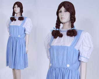 wizard of oz inspired dorothy costume with wig adult size large halloween costume - Dorothy Halloween Costume Women
