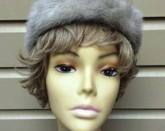 Vintage Grey Mink Fur Hat, Saks Fifth Avenue, ca 1950s