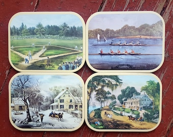 Set of Four Vintage Southern Comfort Coasters - 1980's