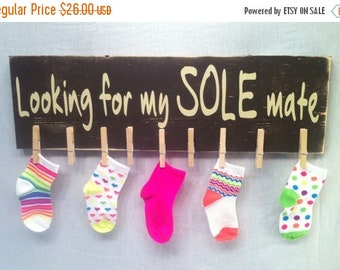 ON SALE 20% OFF Missing Socks, Laundry Sign, Laundry Room Sign, Lost Socks, Laundry Room Fun, Sole Mate, Mothers Day Gift