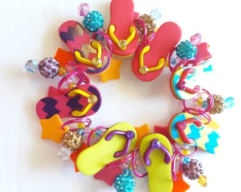 Flip flop bracelet/Summer/Beadiebracelet