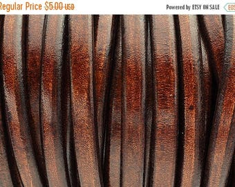"""ON SALE Whiskey Brown Licorice Leather - 8""""/20cm - 10x6mm Best Quality Licorice Leather"""