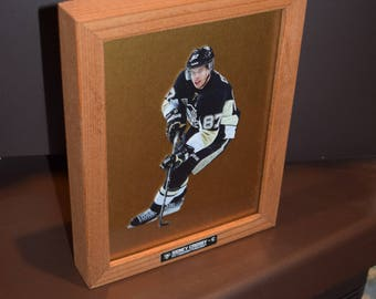 FREE SHIPPING Pittsburgh Penguins Sidney Crosby Custom Framed Fathead Deep  Profile Frame Solid Rustic Cedar Desk