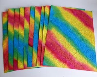 Handmade multicolour paper A4