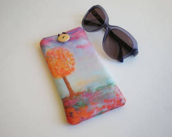 Glasses case, sunglasses case, eyeglasses case, Case for sunglasses, Soft glasses case, glasses sleeve, sunglasses sleeve. Quilted case