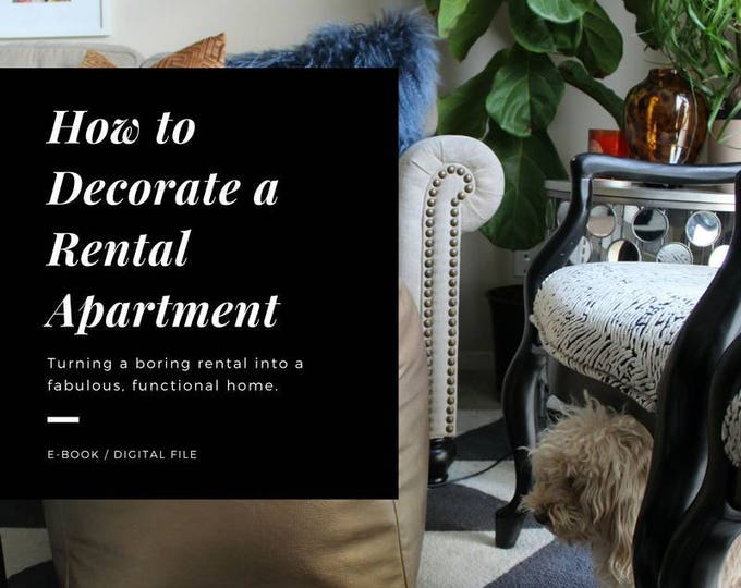 """apartment decorating eBook - """"The Easy Guide to Decorating a Rental Apartment"""""""