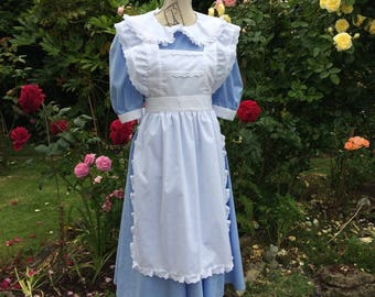 Alice in Wonderland Style Stage Costume, Adults Dress and Pinafore Apron