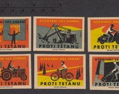 1961 Matchbox Labels from Czechoslovakia - Mixed Media, Scrapbooking, Decoupage, Collage