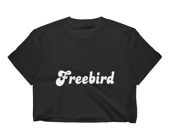 Freebird Black Crop Top