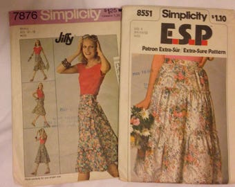 Simplicity Woman's Skirt Patterns 7876 and 8551