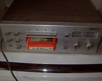 Vintage Airline Eight Track Player and Tapes