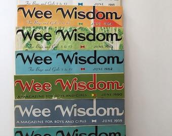 Vintage Wee Wisdom Children's Magazines
