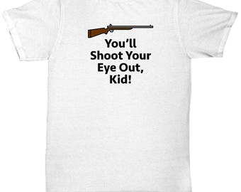 Christmas Story Shoot Your Eye Out Funny Gift Shirt Movie Ralphie Glasses