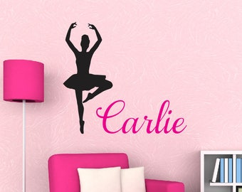 Dance Wall Decals Etsy - Custom vinyl wall decals dance