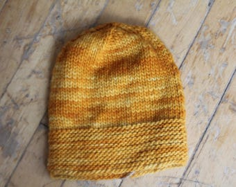 Baby slouchy hand knit hat